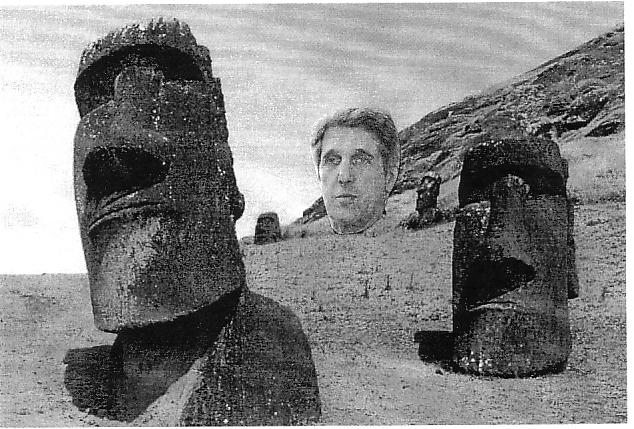 John Kerry at Easter Island